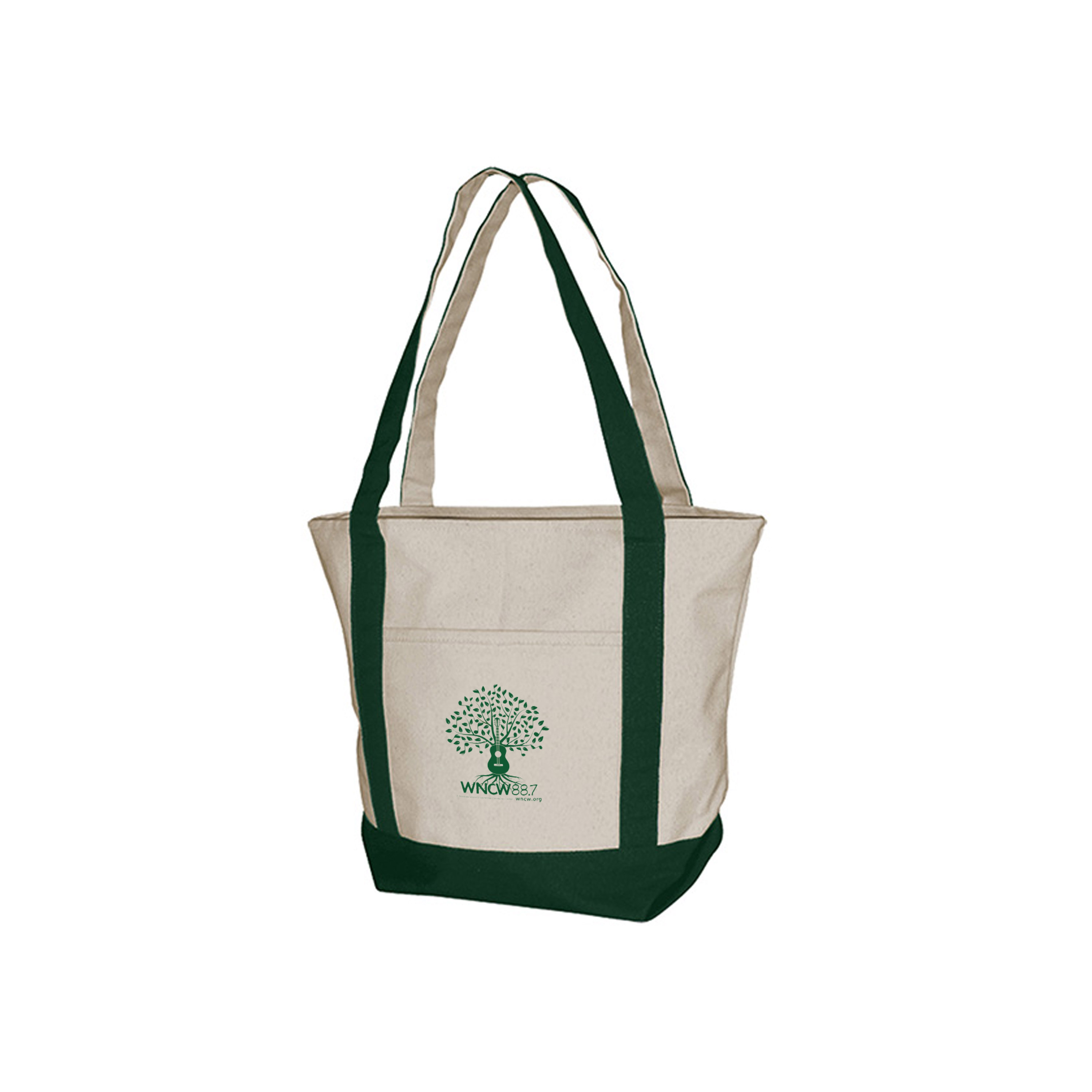 Boat Tote with Guitar Tree logo